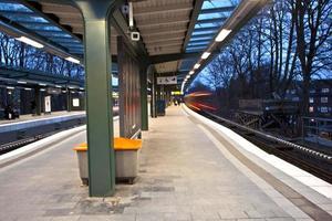 trein in beweging foto