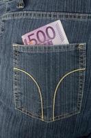 euro en spijkerbroek foto