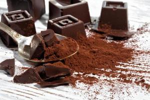 zelfgemaakte pure chocolade foto