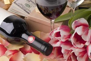 wijn en cadeau