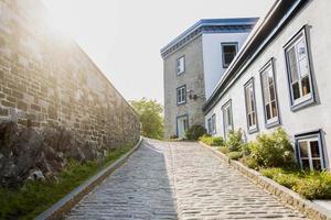 straat van het oude Quebec foto