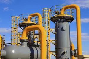 apparatuur gebruikt in de petrochemische industrie foto