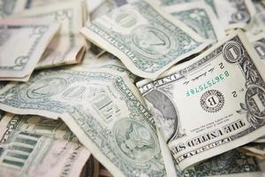 bankbiljetten van één dollar foto