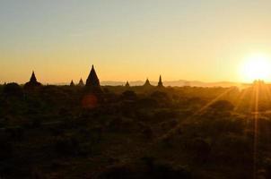 pagodes in bagan, myanmar foto