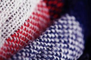 textuur van wollen stof weven