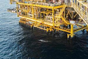 olie platform foto