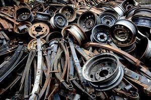 oude reserveonderdelen voor auto's foto