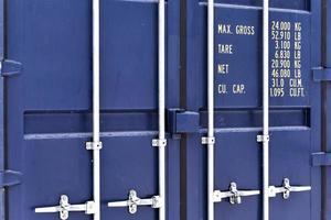 blauwe container foto