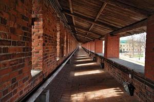 binnenkant van muur in nizhny novgorod kremlin foto