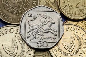 munten van cyprus foto