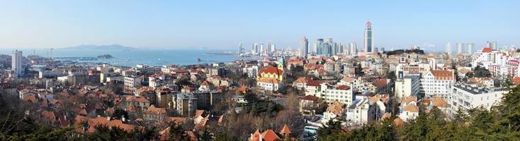Qingdao panorama van de stad foto