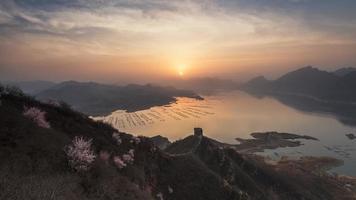 muur zonsopgang xifengkou foto