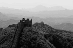 die große mauer in china bij jinshanling foto