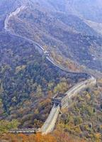 china grote muur dicht verticaal panorama foto