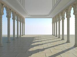 colonnade van oude kolommen foto