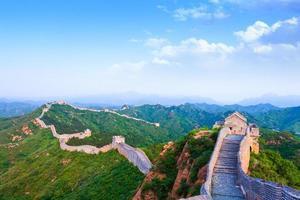 grote muur de mijlpaal van China en Peking foto