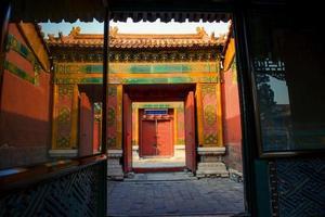 Verboden Stad. Beijing, China foto