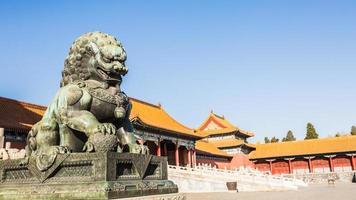 de verboden stad, werelderfgoed, beijing china. foto