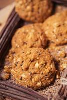 koekjes, snackmix, ontbijtgranen met gezondheidsvoordelen. foto