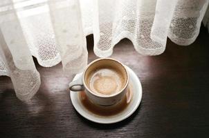 overgelopen koffie foto