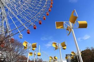 reuzenrad - Osaka stad in Japan foto