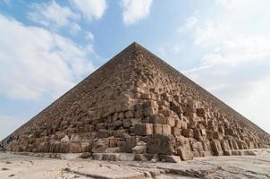 Egyptische piramides van het Gizeh-plateau, Caïro foto