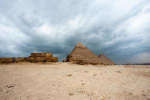 giza necropolis, giza plateau, egypte. UNESCO Wereld Erfgoed foto