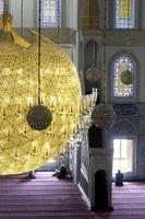 binnenkant van de Kocatepe-moskee in Ankara, Turkije foto