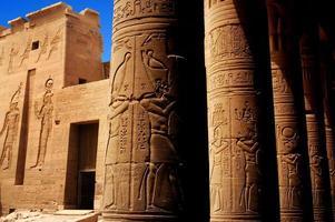 tempel van philae, egypte foto