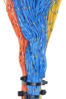 netwerkkabels, overdracht van gegevens in telecommunicatie foto