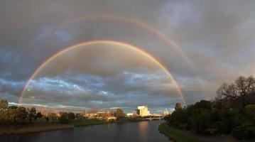 dubbele regenboog in Melbourne