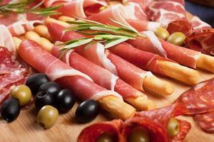 Italiaanse prosciutto di parma foto