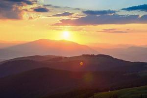 Karpatische bergen foto