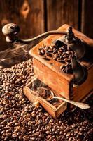 aroma van verse koffiebonen foto