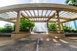 fontein in het park, bangkok, thailand foto