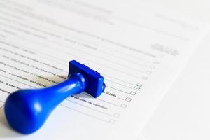 concept van audit checklist foto