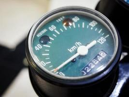 snelheidsmeter display vintage stijl