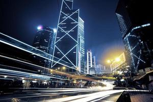 verkeer in hong kong foto