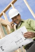 architect op de bouwplaats