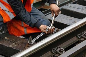 onderhoud van spoorweg foto