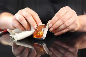 amber, een prachtige barnsteen ketting. foto