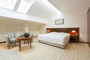 slaapkamer interieur in loft appartement
