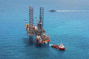 offshore booreiland boorplatform foto