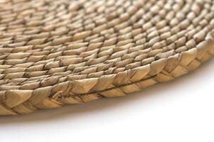 rieten, placemat, concentrisch cirkelvormig ontwerp foto
