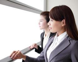glimlach zakenvrouw team kijken foto