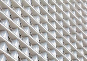 detail van ramen in hoogbouw foto