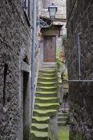 middeleeuwse trap, bomarzo foto
