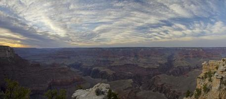 panoramische zonsondergang op Grand Canyon foto