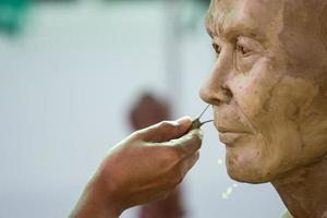 Boeddha gezicht door was foto