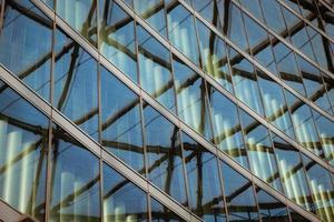 architectonisch detail van een modern gebouw foto